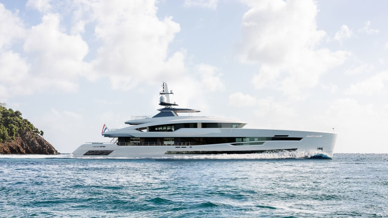 Heesen's Project Akira with exterior styling by Frank Laupman and interior by Harrison Eisdgaard is proceeding on schedule