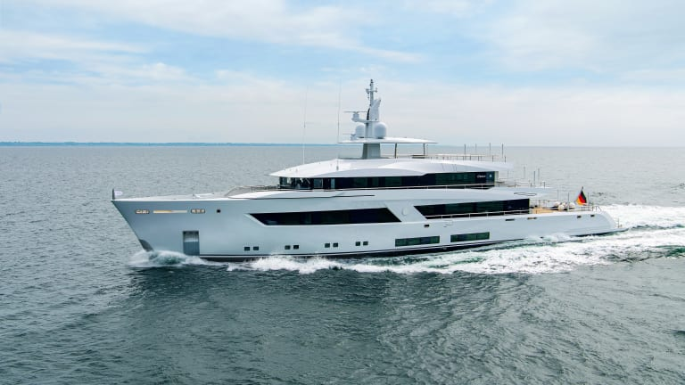 Lürssen's  Project 13800, a custom 184-foot/56-meter motoryacht, will be making its world debut at the Monaco Yacht Show in September