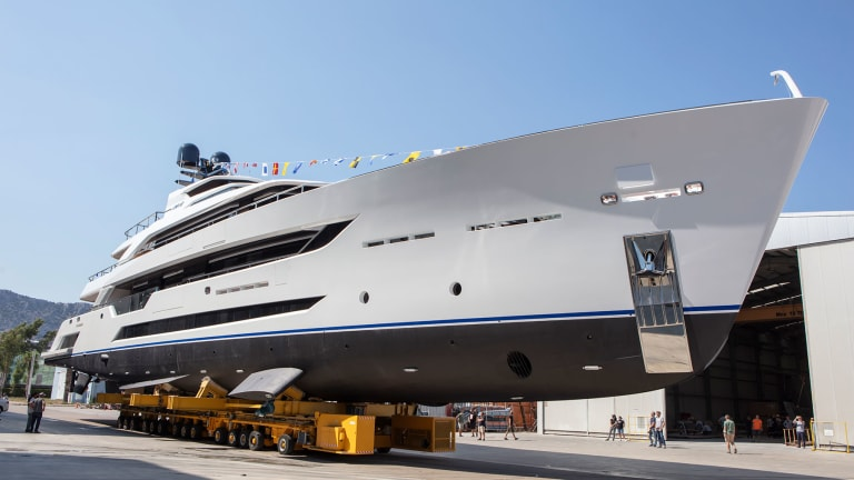 Alia's 180-foot/ 55-meter motoryacht Al Waab II designed by Vripack will be making its world debut in late September