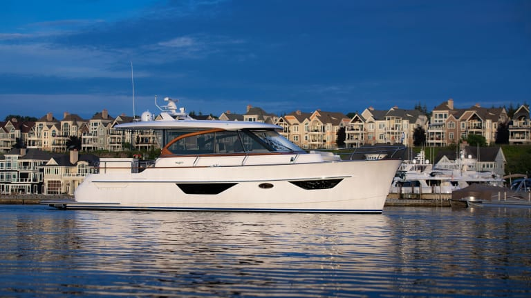 New Burger 50 Cruiser with naval architecture by Vripack and interior by DeBasto Designs has been completed and can be seen at the upcoming Newport International Boat Show and the Trawlerfest Baltimore