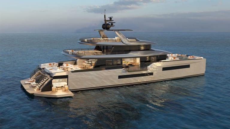 ISA Yachts launches Zeffiro— a new 130-foot power catamaran