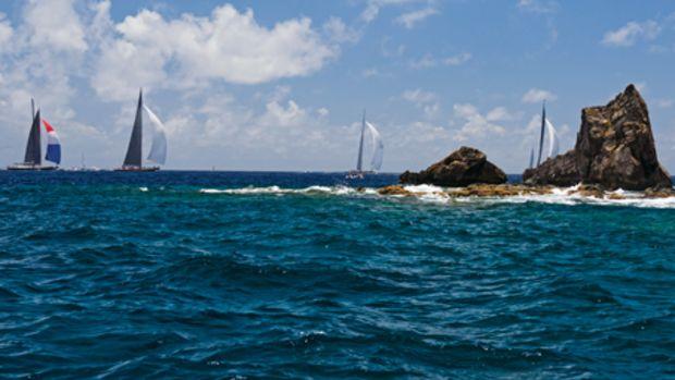 J Class yachts Lionheart, Ranger, Hanuman, Rainbow and Velsheda
