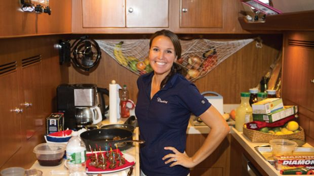 Premier Class winner, Chef Megan Williamson of the 70-foot sailing yacht Destiny.