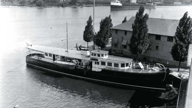 Originally, this wooden yacht bore the name Lenore