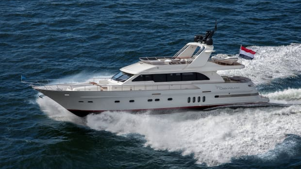 Thanks to her triple third-generation Volvo Penta IPS 1050 engines, Grey Falcon is one of the fastest vessels ever built by Van der Valk, and will clock a maximum speed of 32 knots.