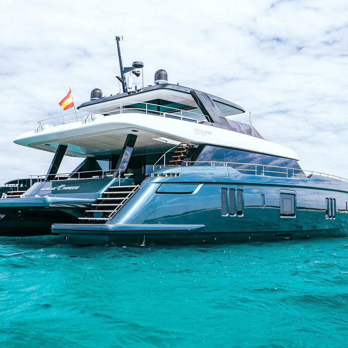 Tennis Superstar Rafael Nadal Is Loving His New 80 Foot Sunreef Power Boat Yachts International
