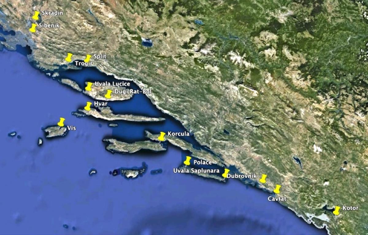 Map-MontenegroToDubrovnik