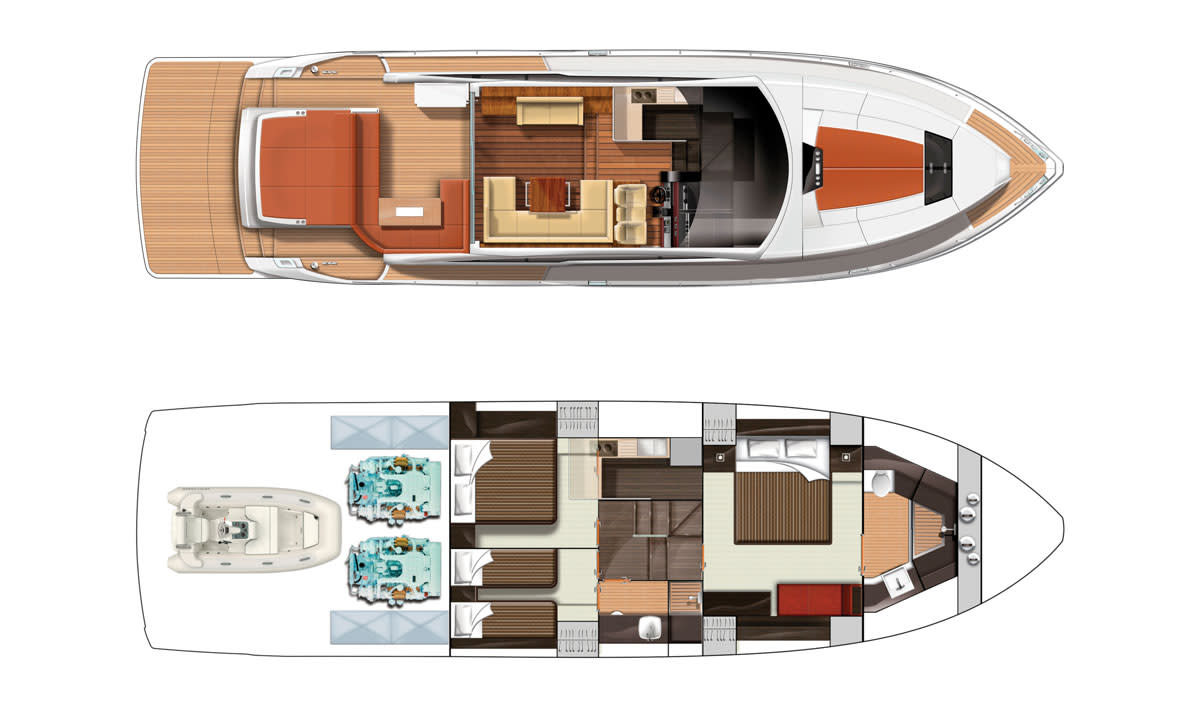 FairlineTargaGT62-Layout