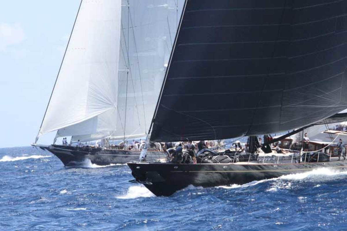 Action at 2015 St. Barth's Bucket regatta