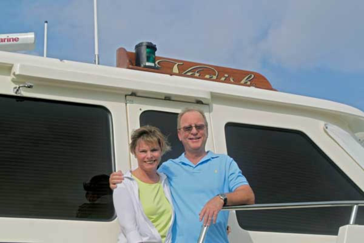 Owners Vicki and Maynard Smith