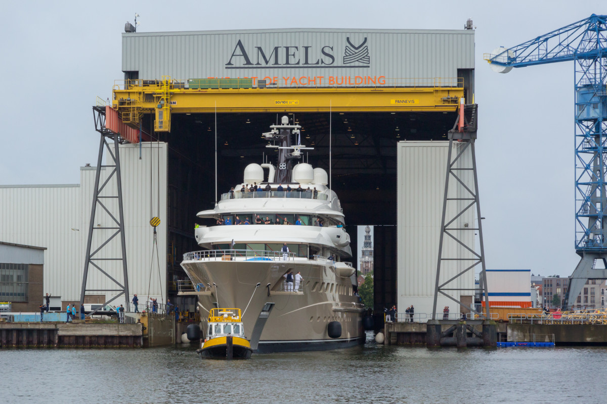 Amels' 272-foot (83-meter) HERE COMES THE SUN launched in 2016.