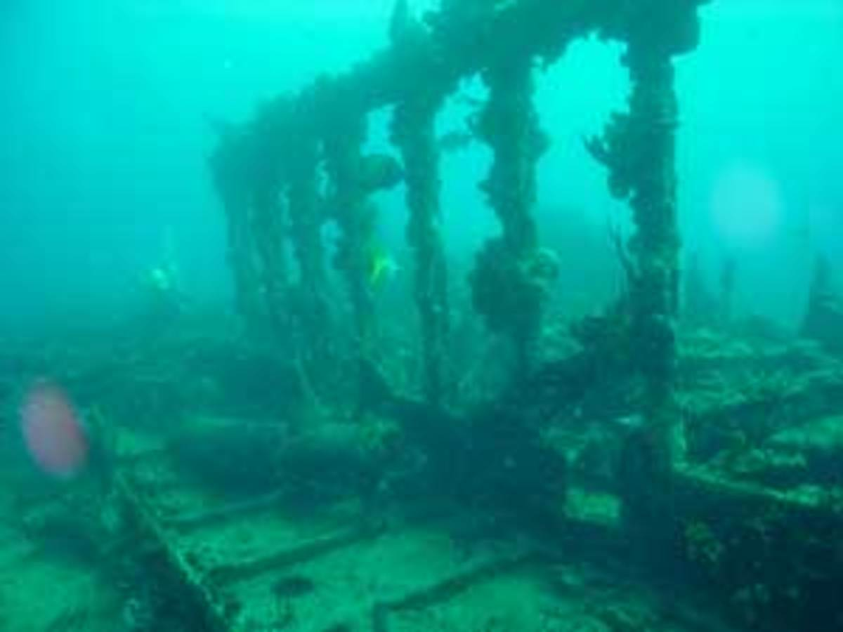 The RMS Rhone wreck