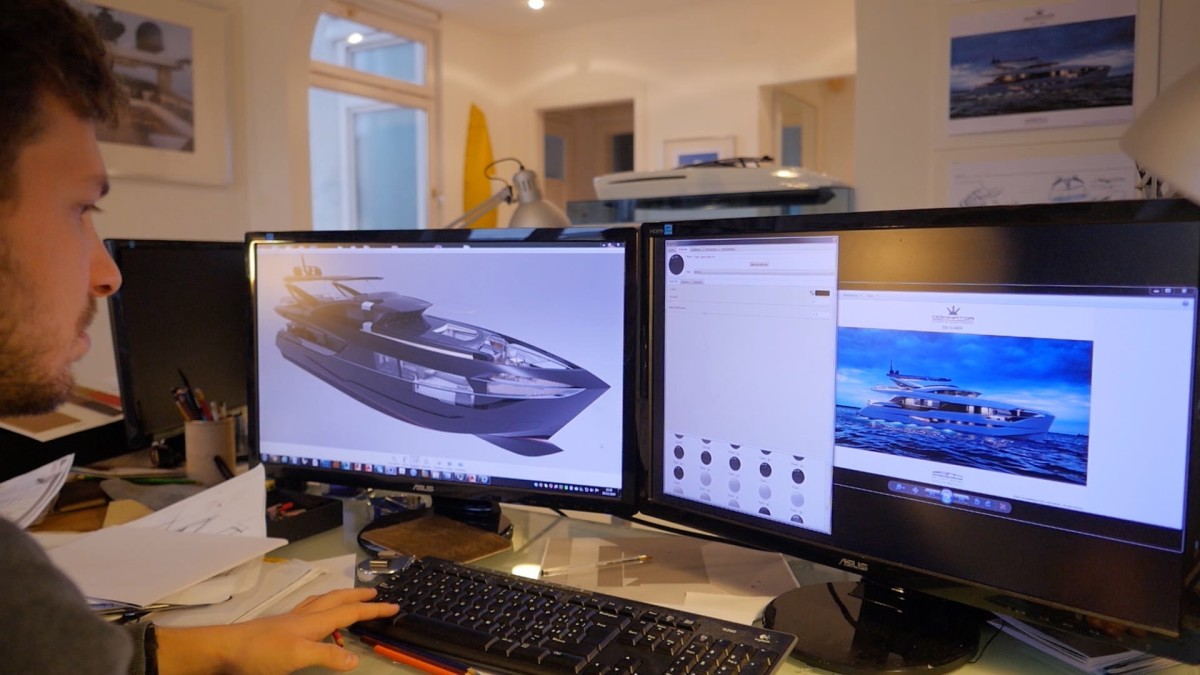 The computer-aided design (CAD) drawings that yacht designers and naval architects have used for years are now being repurposed to create virtual-reality experiences. The files are fed into 3-D programs that make viewers feel like they are inside the photo-realistic CAD drawings.