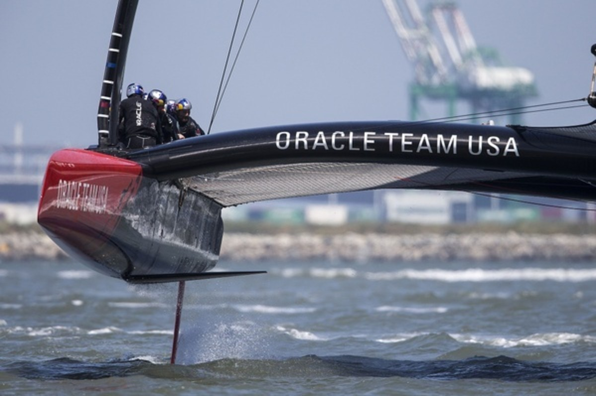 Boat 2 First Sail / SFO April Testing Session / ORACLE TEAM USA / San Francisco (USA) / 24-04-2013