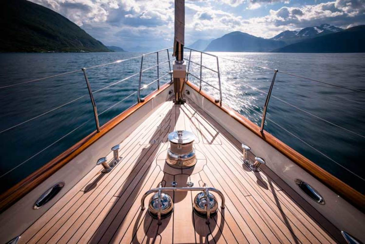 Form and function come together in the exquisite detailing of the visible moving parts on deck.