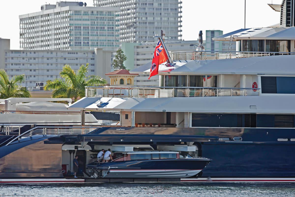 Hodgdon's custom tender for the megayacht Seven Seas