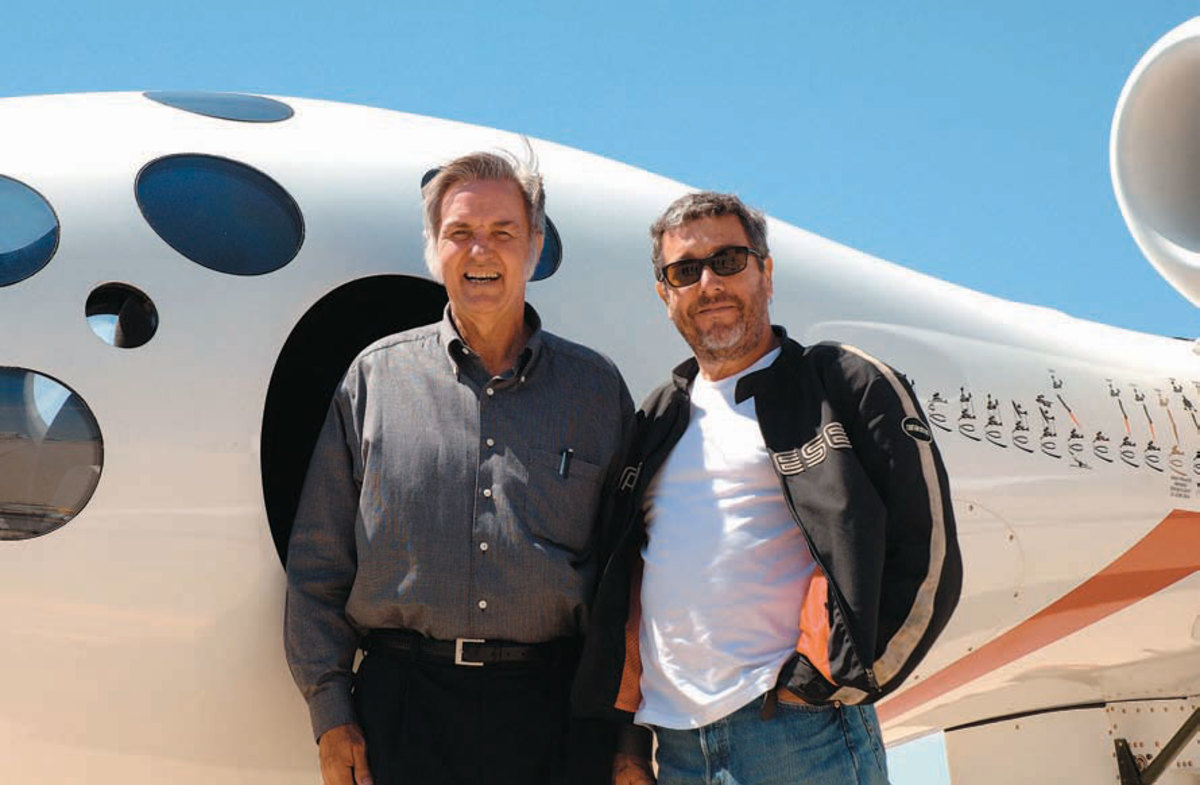 Aerospace engineer Burt Rutan and Philippe Starck