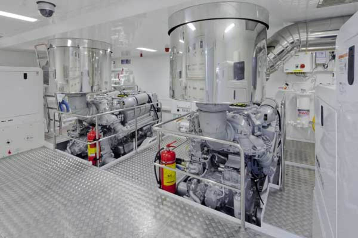 Engine room on board the Darwin 96
