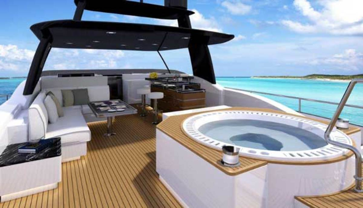 Horizon FD85 Fast Displacement motoryacht flybridge