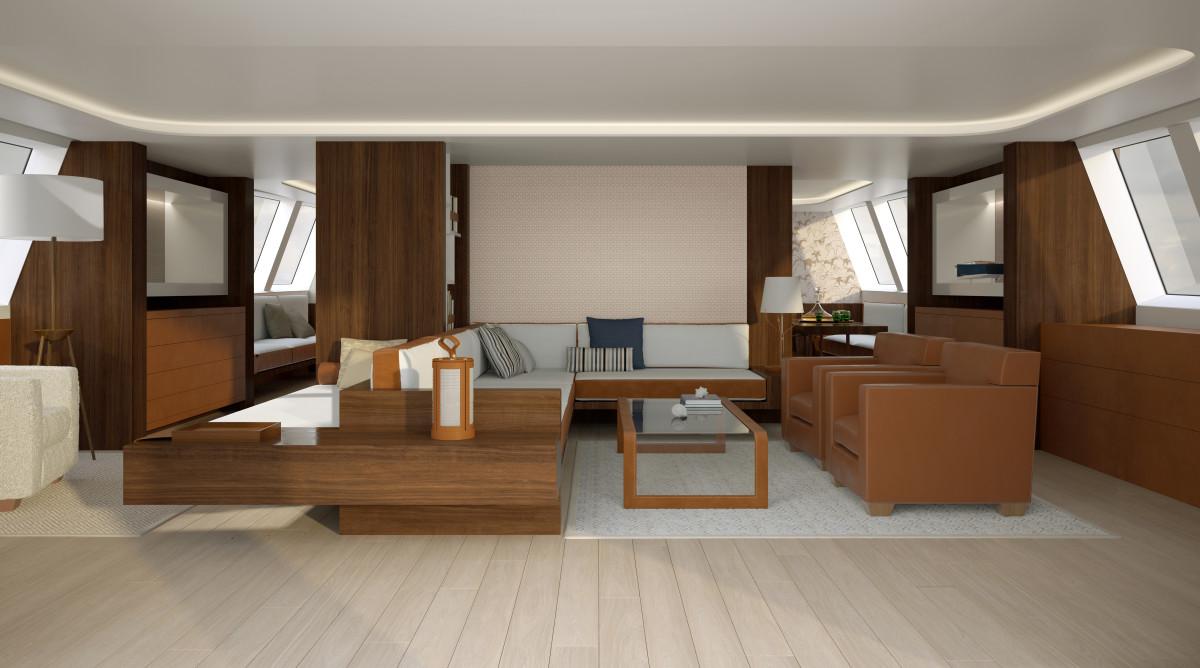 yacht interior rendering