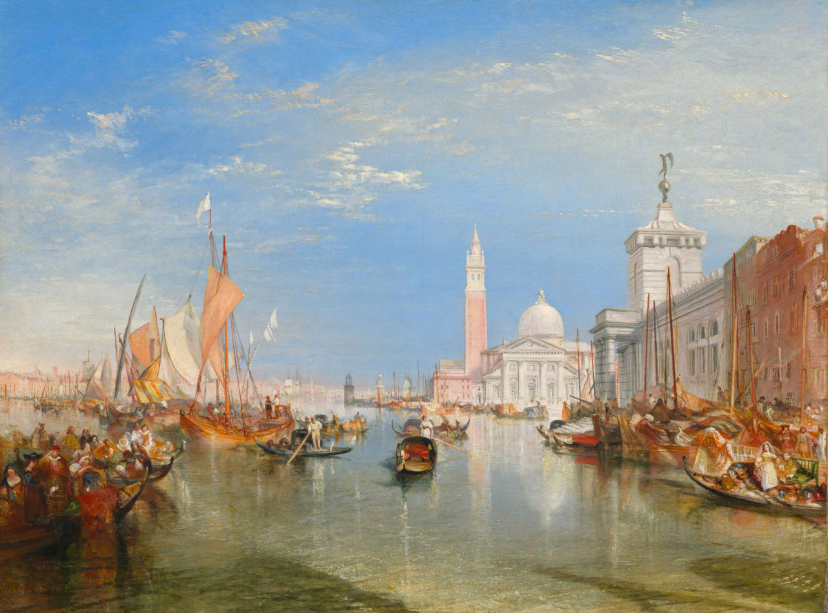 Joseph Mallord William Turner, Venice: The Dogana and San Giorgio Maggiore (1834). National Gallery of Art, Washington, D.C., Widener Collection, 1942.9.85.