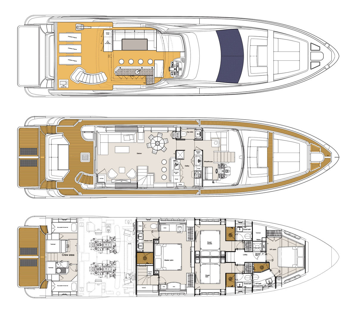 Azimut84Fly-Layout