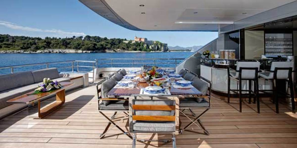 Main deck on Feadship's 152-foot COMO