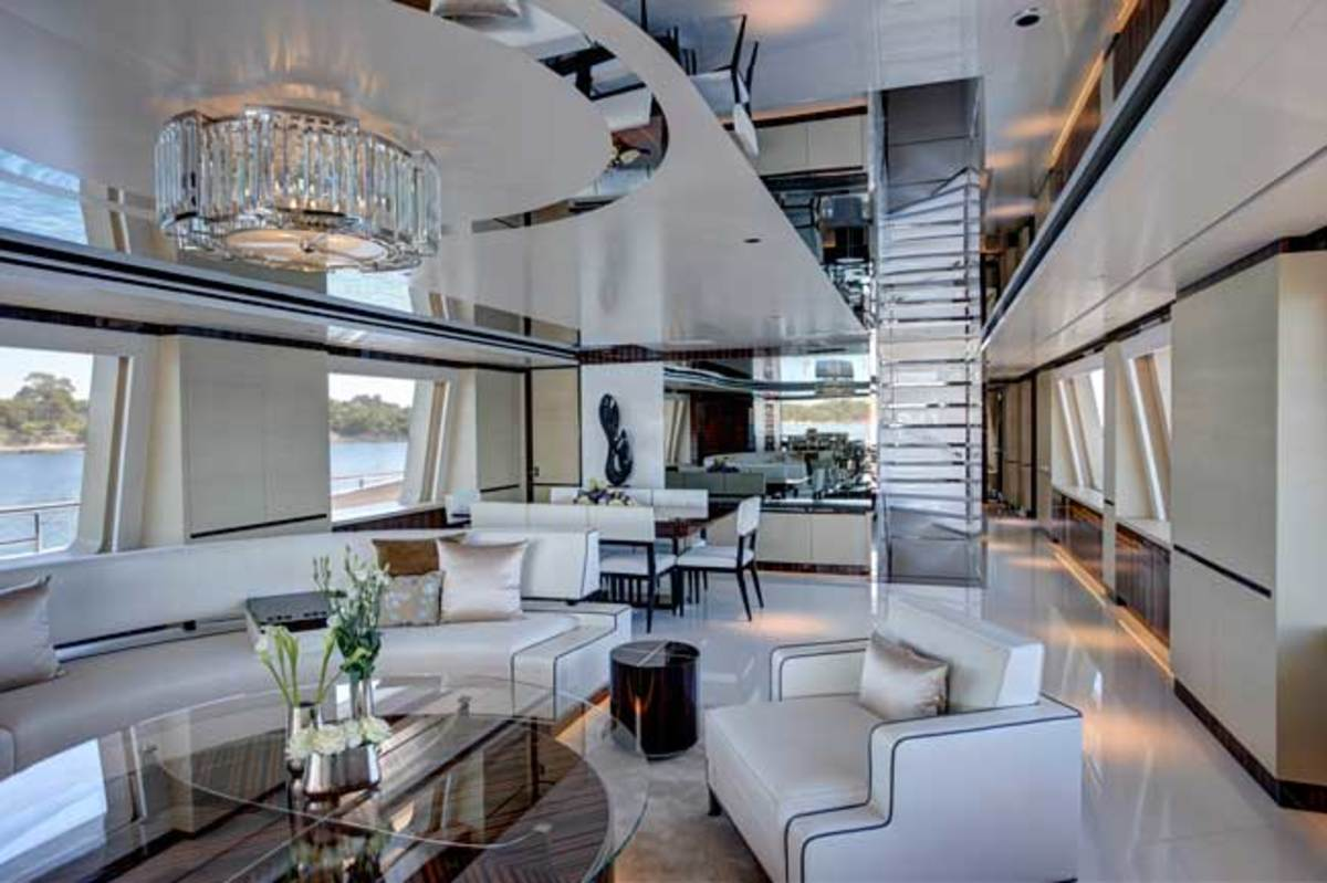 Main deck lounge on Feadship's 152-foot COMO