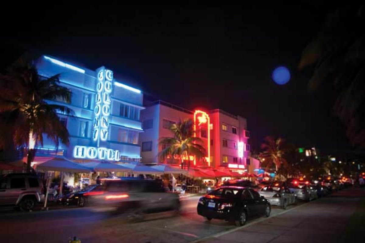 South Beach scene
