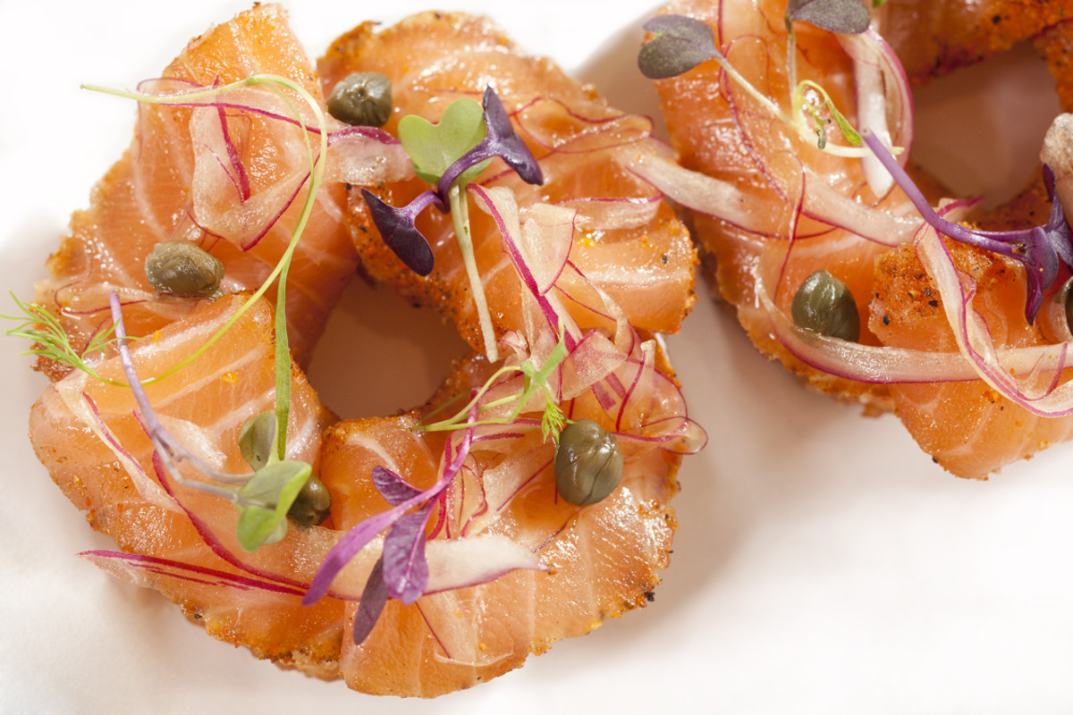 "Nobu restaurant's sumptuous ""Bagel & Lox"" is a must-try."