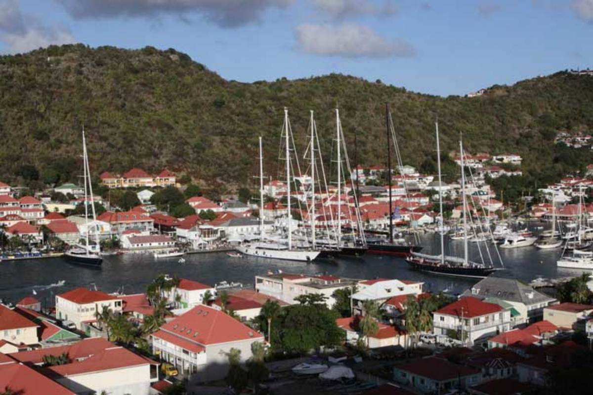 Gustavia is home base for the Bucket, although many competitors anchored off this year.