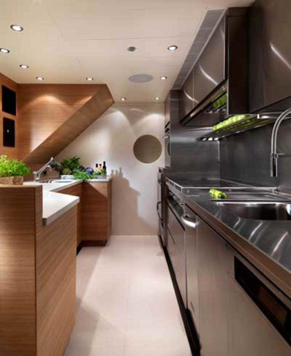 The galley of Moonen's 138-foot Sofia