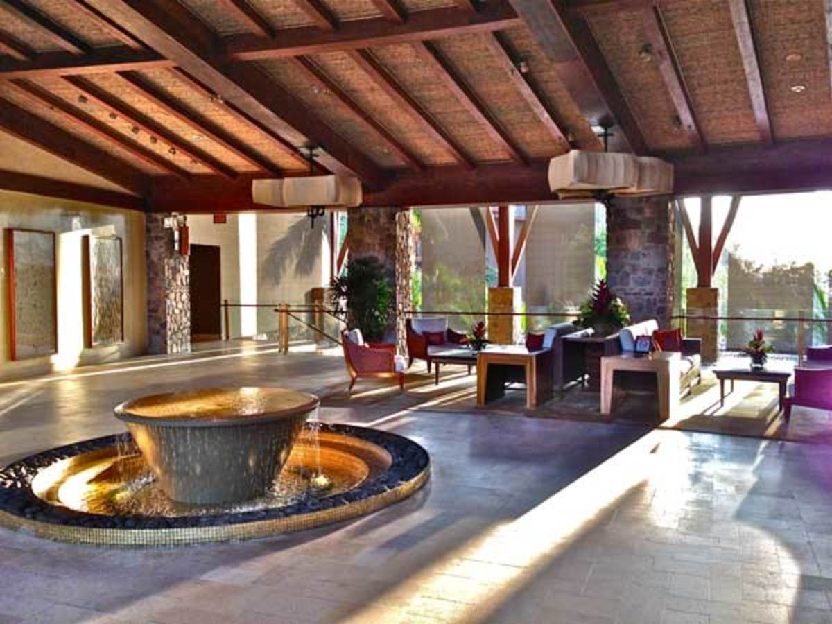 The open-air lobby of the Four Seasons Costa Rica at Peninsula Papagayo—one of several luxury resorts on the peninsula.