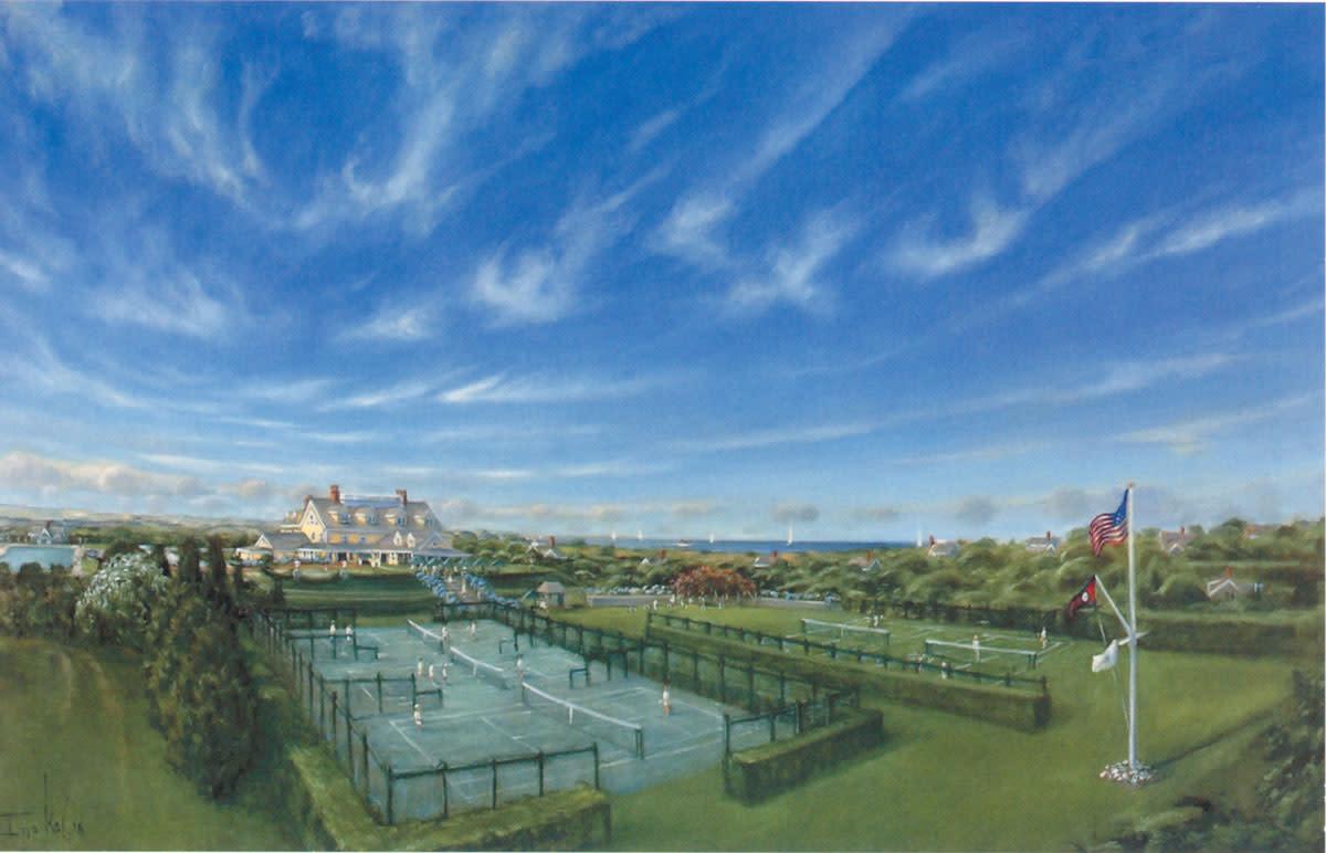 A landscape of the Westmoor Club by local artist Ilya Kagan