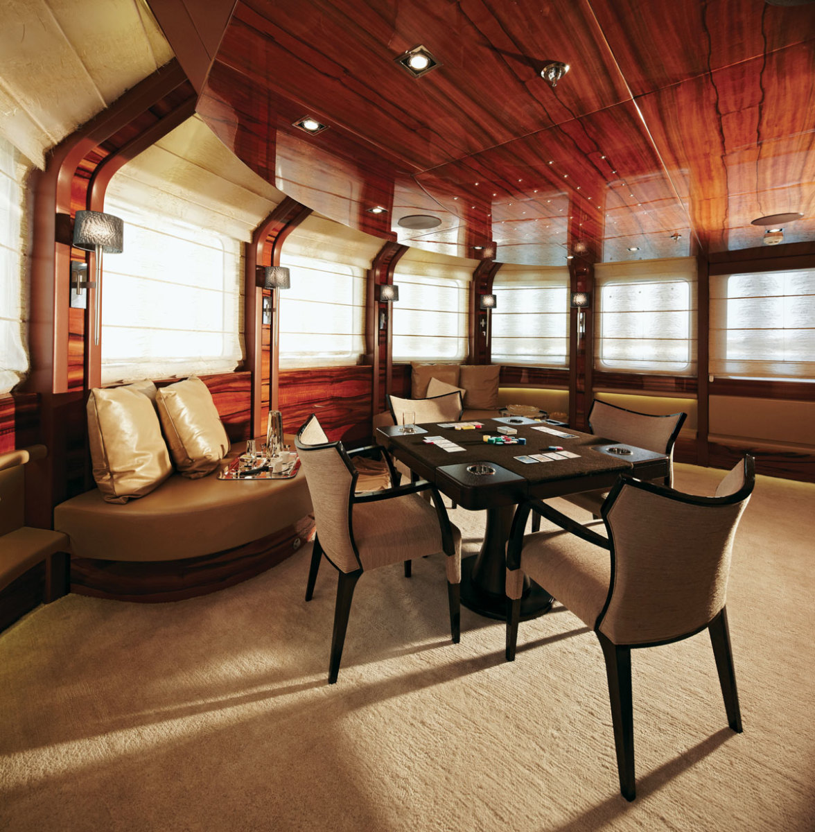 It was our task to design an interior for private use as well for charter purpose in an elegant cozy contemporary style.