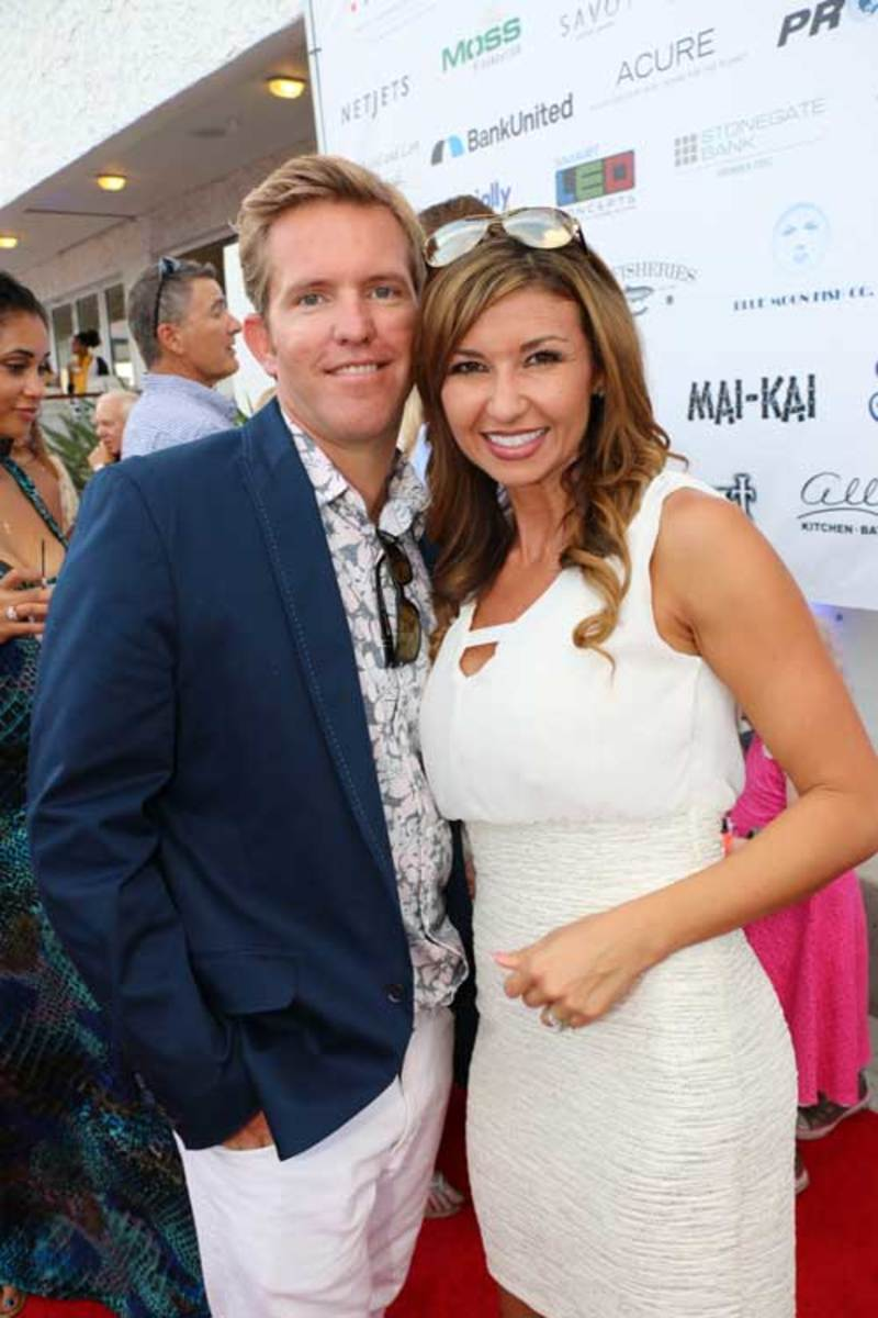 Waterway Soiree 2015—Clayton Swart and WTVD weather anchor Julie Durda