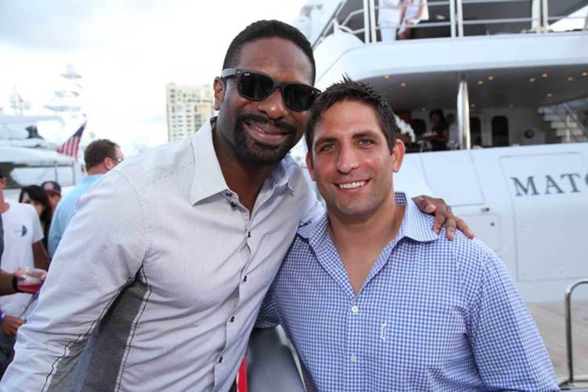 Waterway Soiree 2015—DJ Irie and pro footballer Anthony Fasano