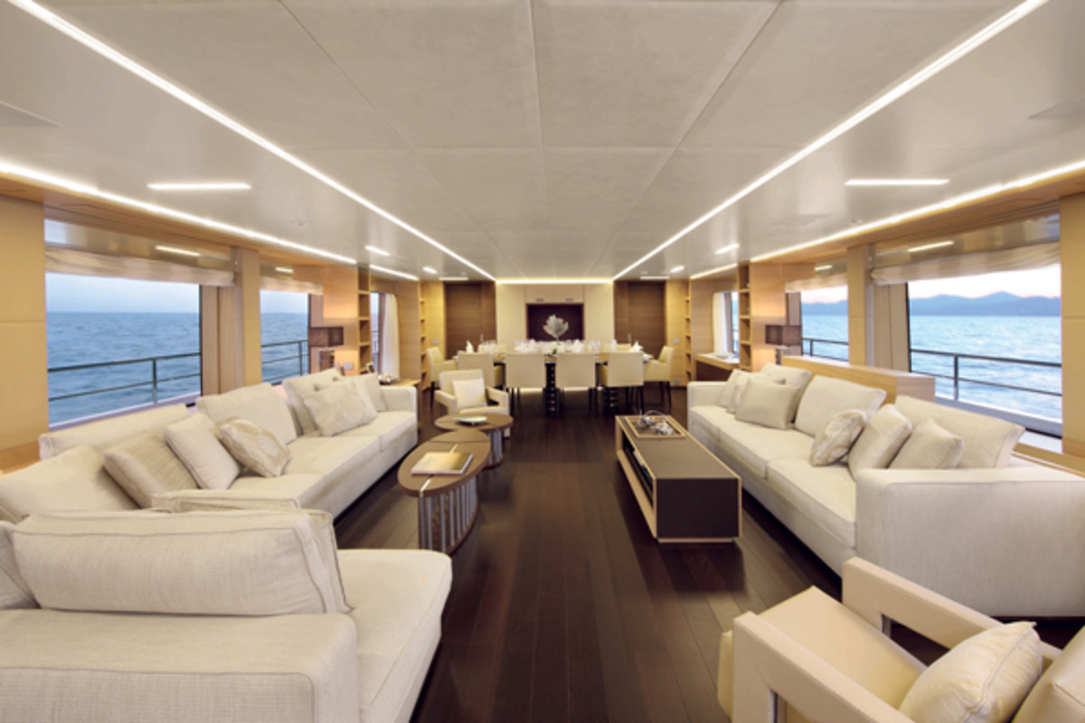 Luxury superyacht keyla interior by hot lab luxury yacht charter - Italian Leather Seating Sourround The Best Of The Yachts Views By Fran Ois Zuretti Benetti Classic Supreme Yacht Interior Design Pinterest Luxury