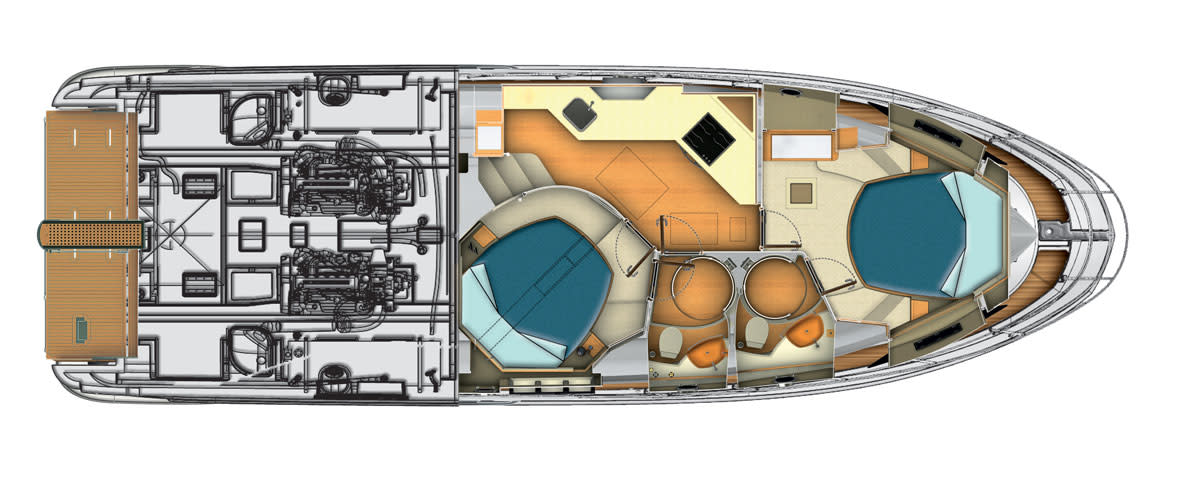 Azimut45-Lowerdeck-2Cabins