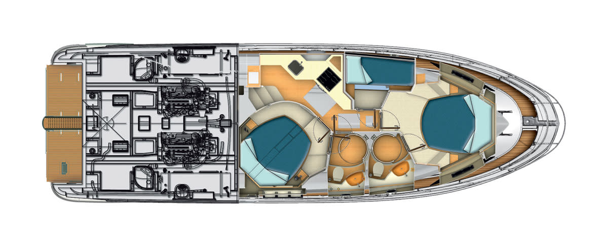 Azimut45-Lowerdeck-3Cabins