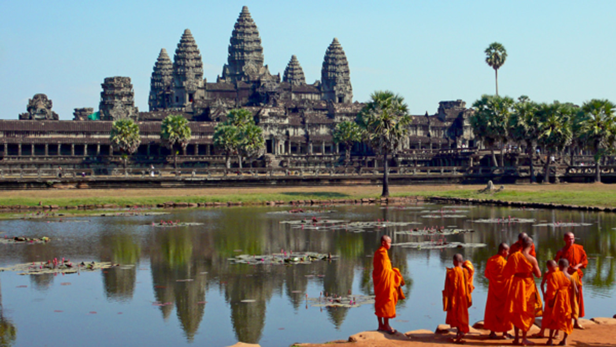 The Angkor Wat temple in Seim Reap