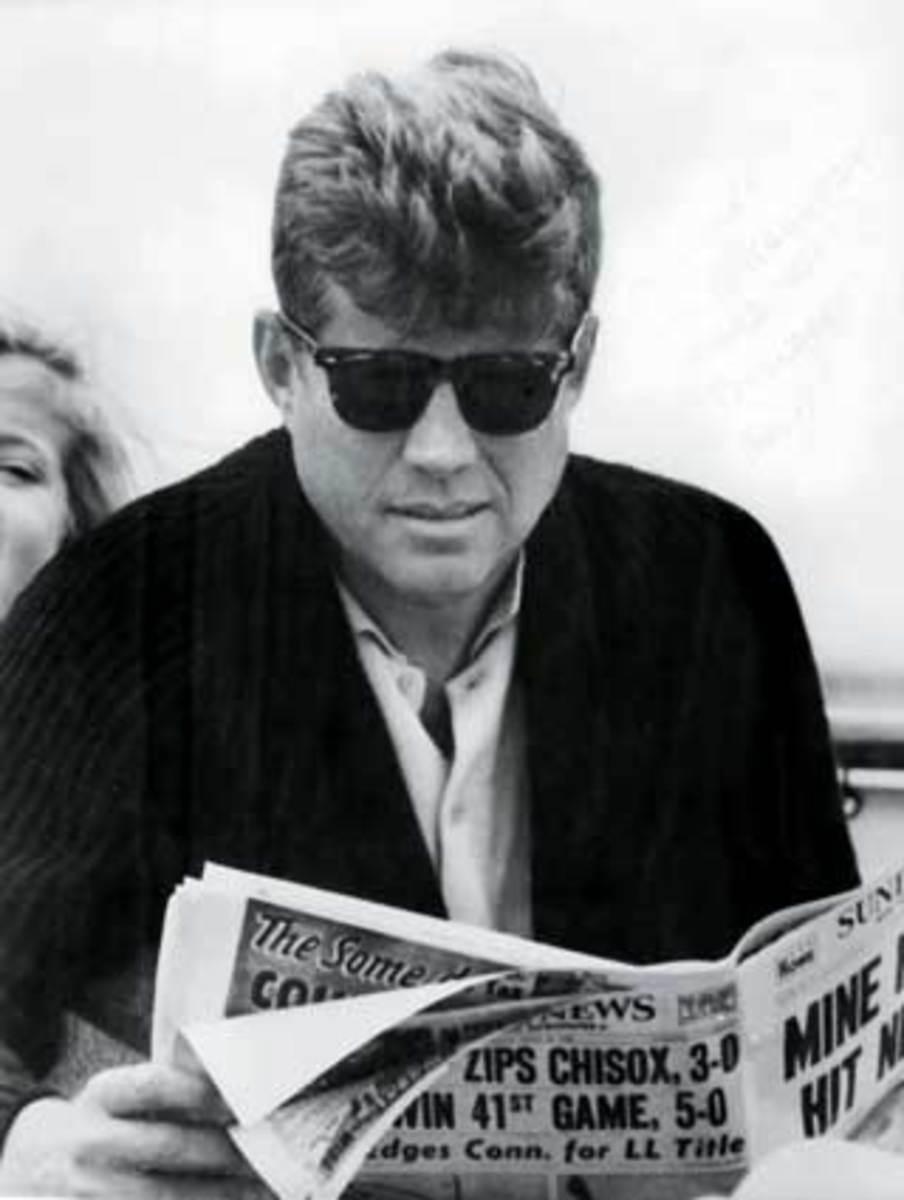 President JFK onboard Honey Fitz