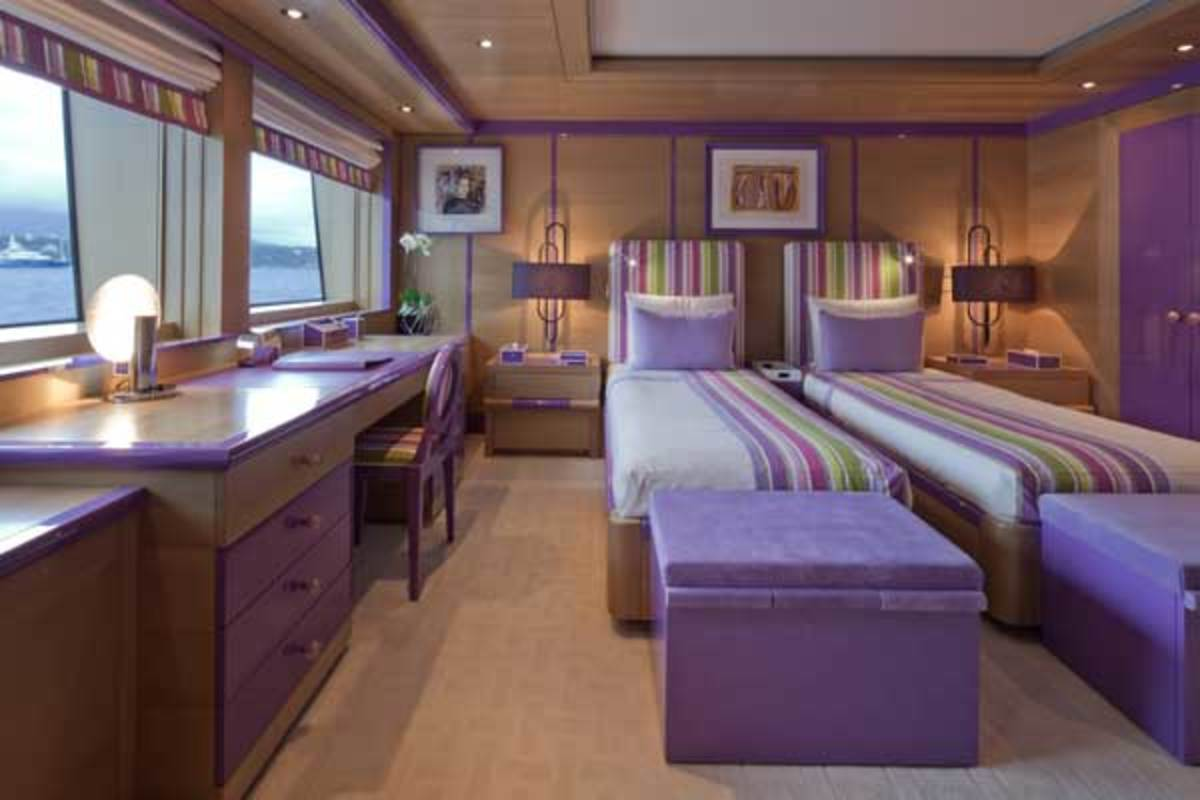 The master and VIP staterooms of the Azimut 84 both benefit from large windows.