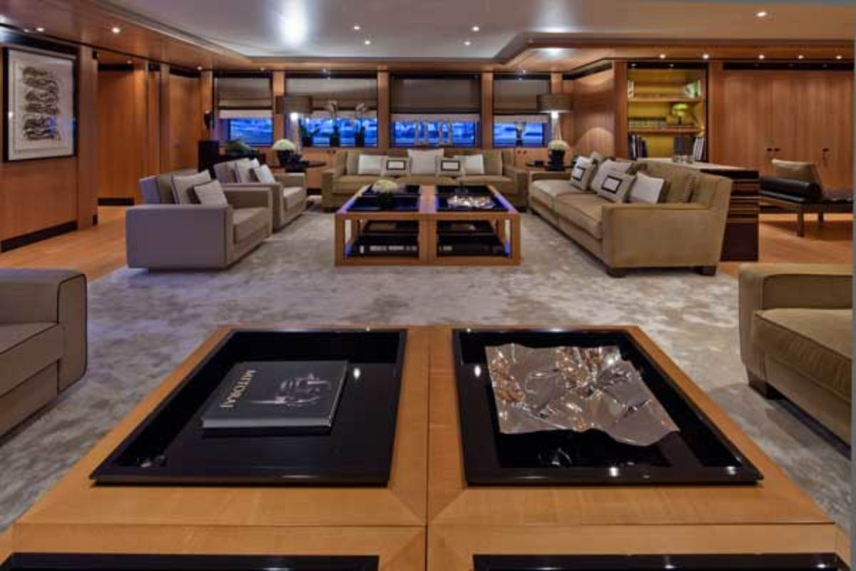 The Azimut 84's foredeck incorporates an extra dining and lounging area.