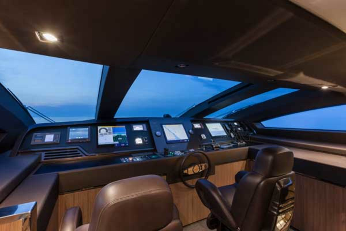 The pilothouse offers great visibility.