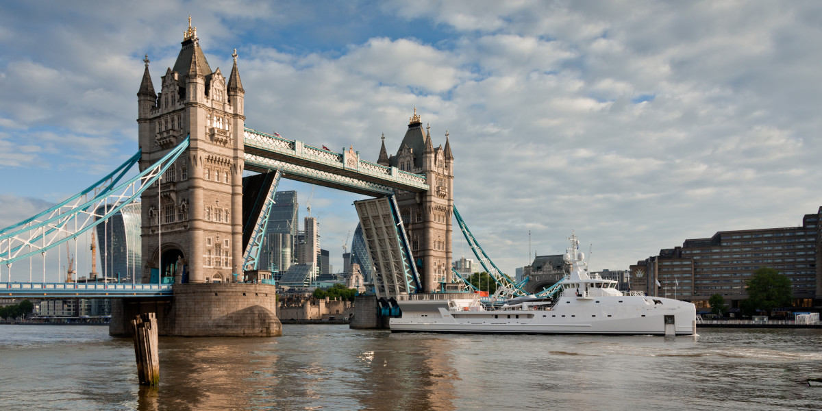 Damen's new 227-foot yacht support vessel Game Changer in London