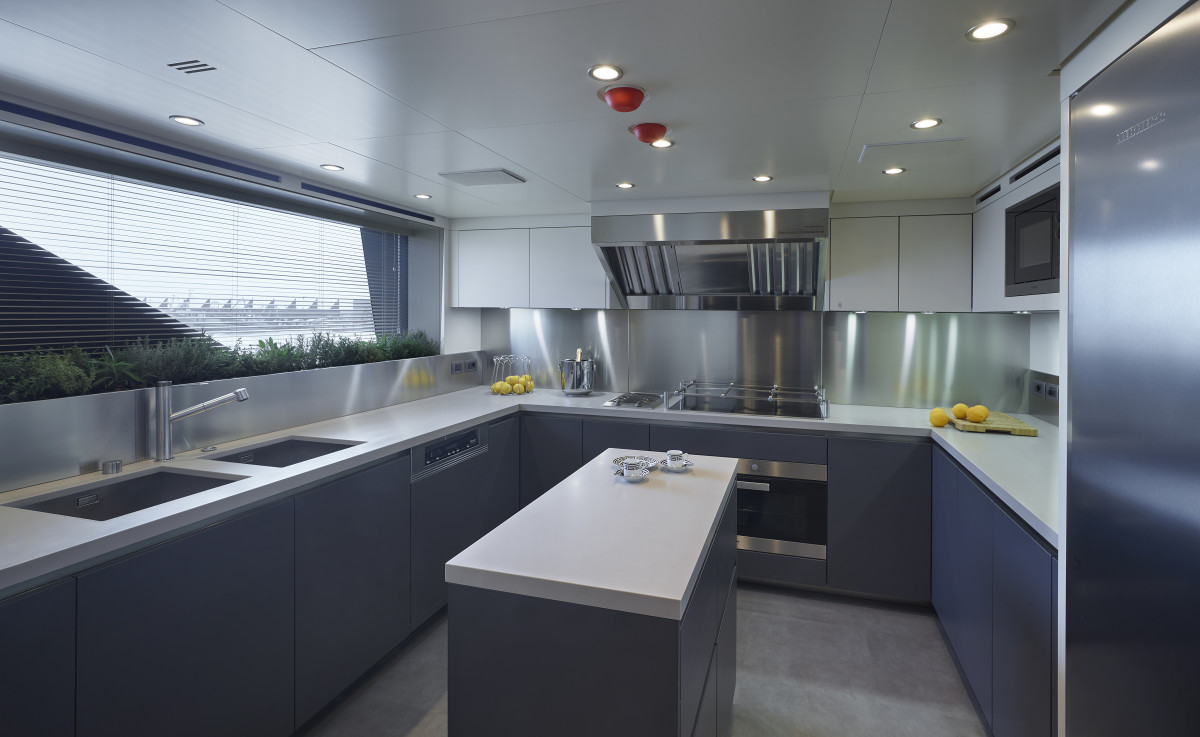 The galley, situated on the main deck.
