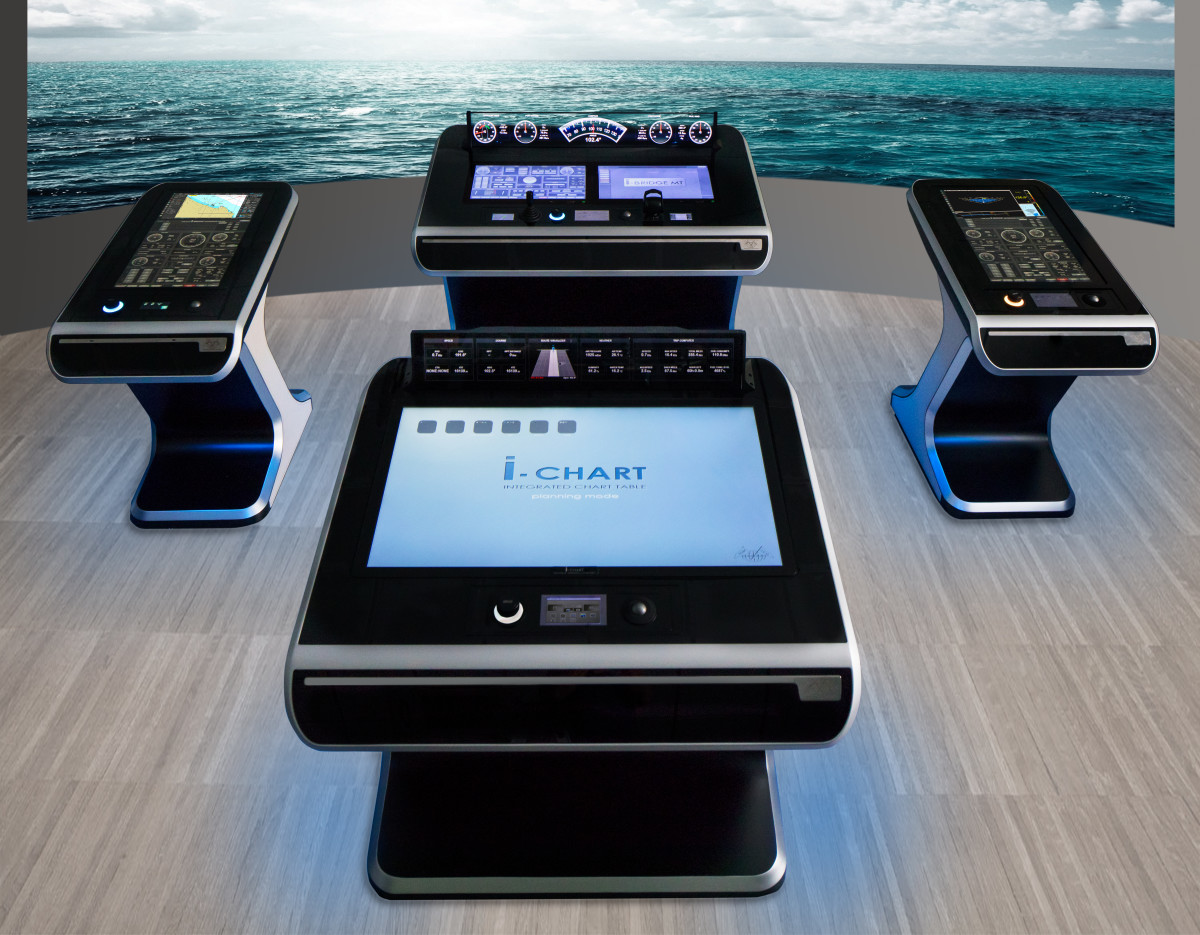 The Team Italia HUD is being offered as an integral component of the company's I-Bridge electronic navigation system.