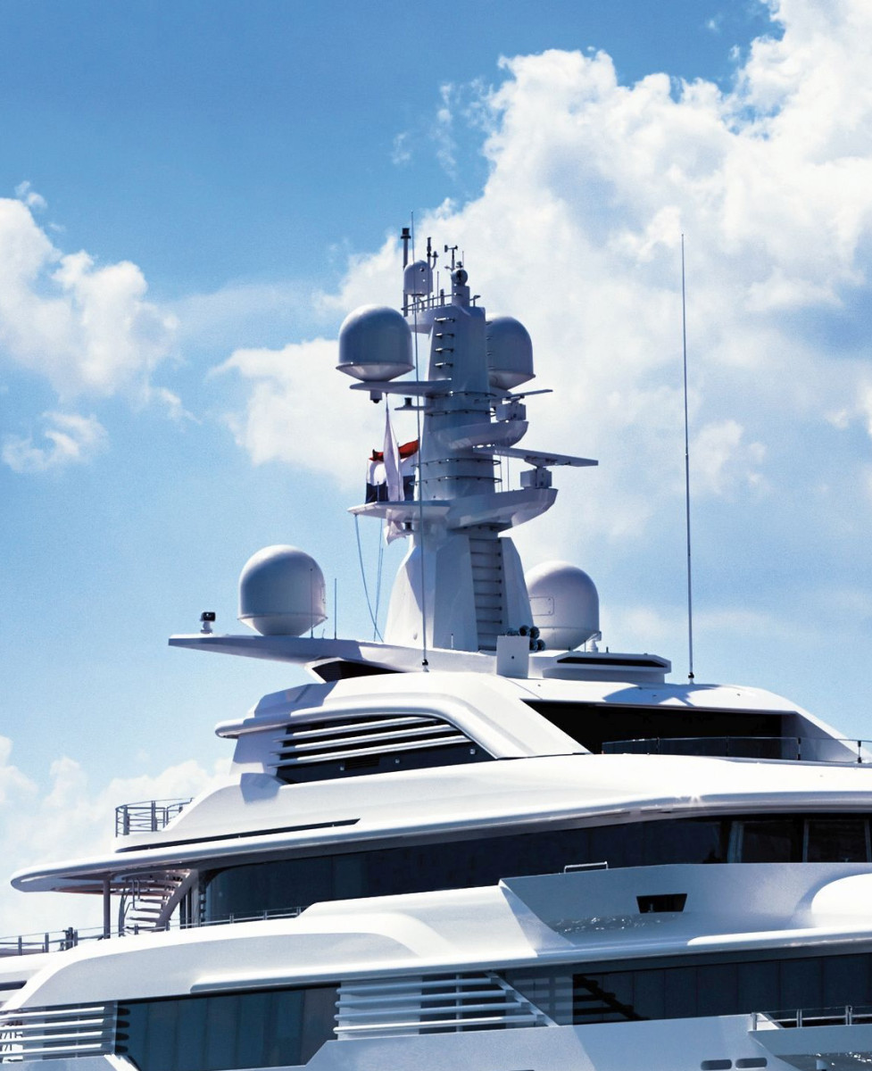 With modern yacht design trending toward a more streamlined look, the days of satellite domes atop every yacht may be numbered.