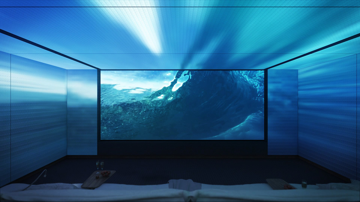 With The Lumière, your entire onboard theater becomes one with the projection.